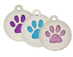 Glitter Engraved Pet I.D Tags