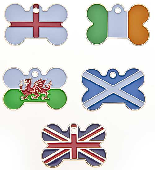 Country Flag Pet Tags