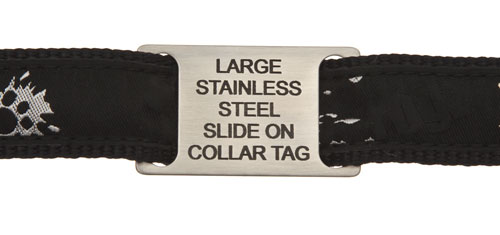 Steel Tag Fitted To Collar