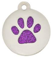 Premium Glitter Paw Purple
