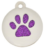 Small Glitter Paw Purple