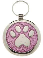 Small Elegance Pink Glitter Paw