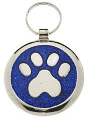 Medium Elegance Blue Glitter Paw
