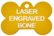 Gold Laser Engraved Bone