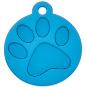 Blue Large Paw Print