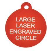Red Laser Engraved Tag