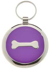 Small Elegance Purple Bone Circle