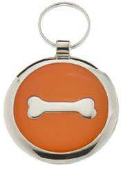 Small Elegance Orange Bone Circle