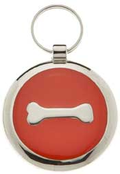 Small Elegance Red Bone Circle