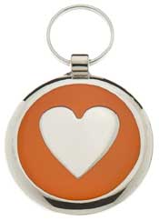 Small Orange Elegance Tag