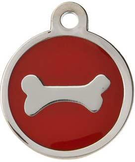 red bone dog id tag