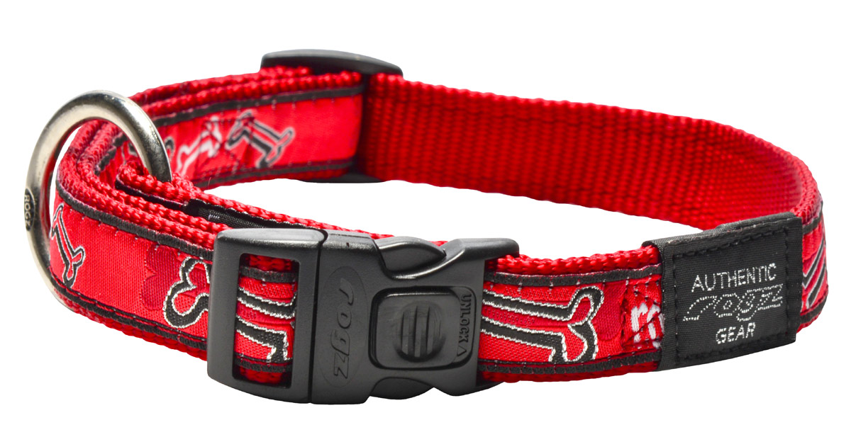 Fancy Dress  Collar - Red Bones