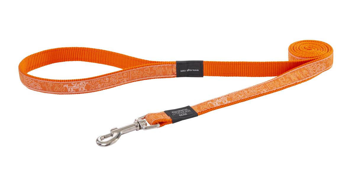 Fancy Dress Lead - Orange Doodle