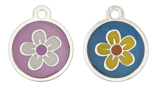 Medium Luxury Flower Dog Tag