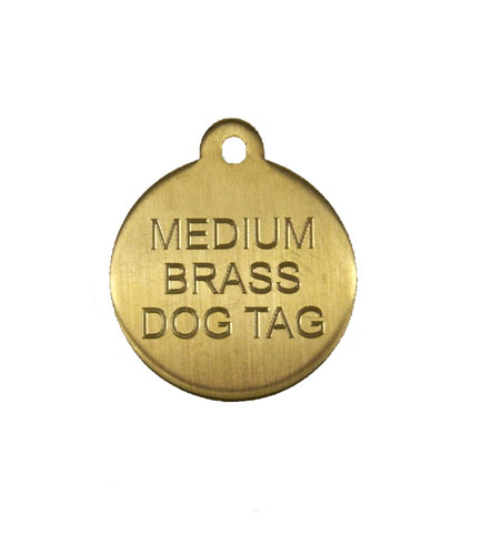 Medium Brass Dog Tag