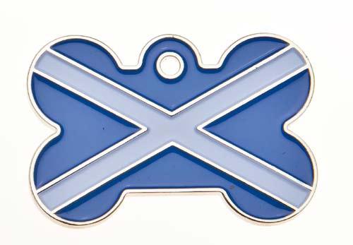 Large Scotland Bone Tag