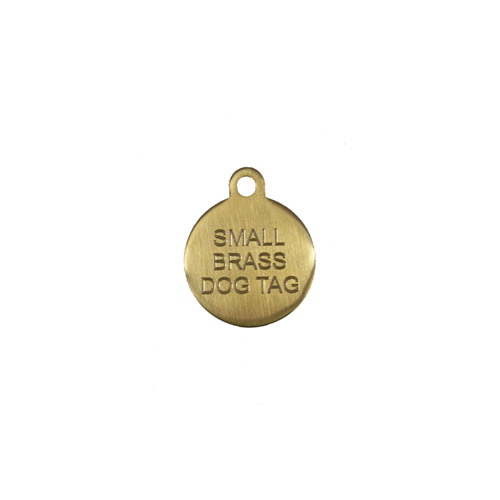 Small Brass Pet Tag