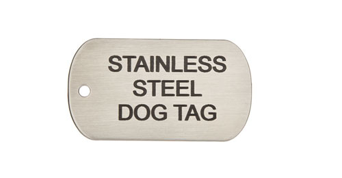 Laser Engraved Stainless Steel Dog Tags
