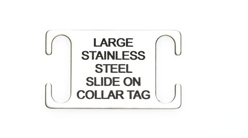 Steel Slide on Collar Tag Large