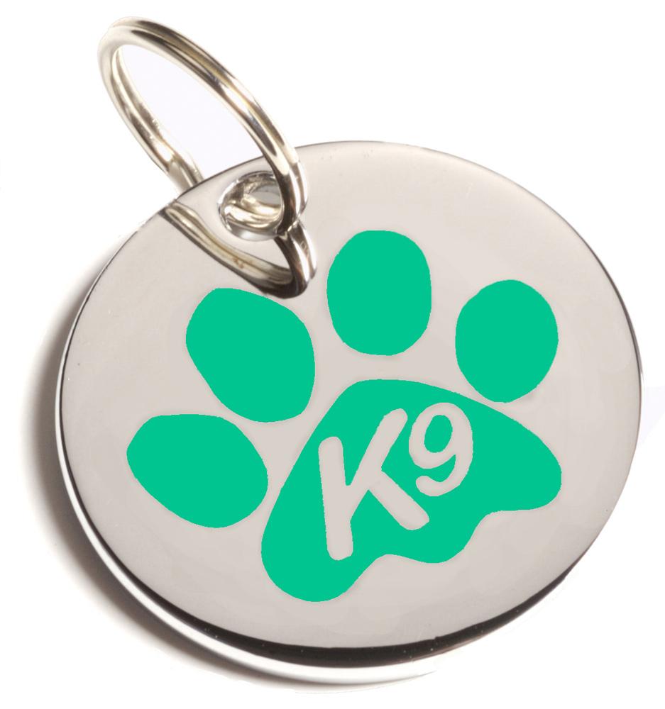 Green K9 Paw