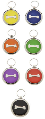 Medium Elegance Round Bone Pet Tag