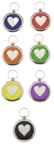 Medium Elegance Round Heart Pet Tag