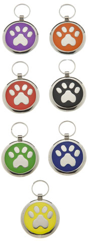 Medium Elegance Round Paw Pet Tag