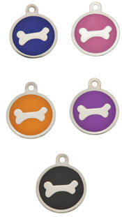 Small Luxury Round Bone Dog Tag