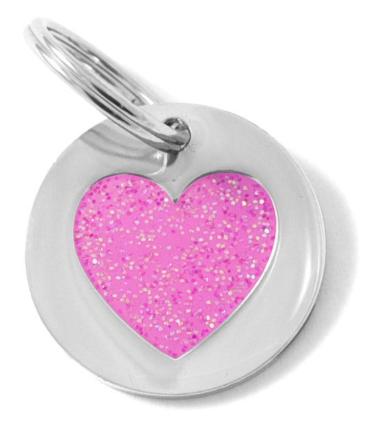 Small Glittery Pink Heart