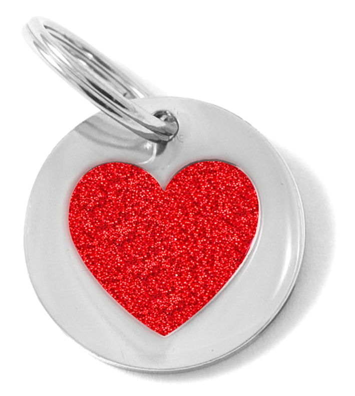Small Glittery Red Heart