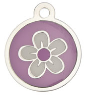 Small Luxury Flower Dog Tag