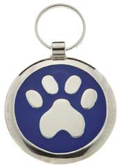 Small Elegance Round Paw Pet Tag