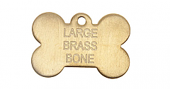 Brass Bone Tag Large
