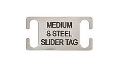 Slide on Collar Pet id Tag Stainless Steel Medium