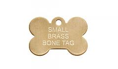 Small Brass Bone Pet id Tags