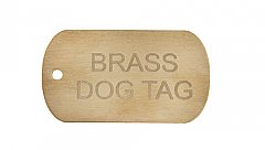 Brass Dog Tags