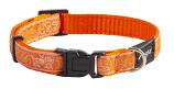 Fancy Dress Collar - Orange Doodle