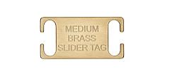 Slide on Collar Pet id Tag Medium